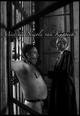 sadistic_Mistress chaining her slave to the window bars
