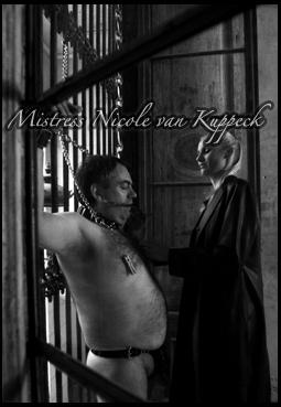 sadistic_Mistress chaining her slave to the window bars